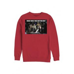 Star Wars® Falcon Crew Button Crew Fleece Graphic Sweatshirt