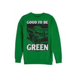 Star Wars® Star Wars™ Green Yoda Graphic Crew Fleece Sweatshirt