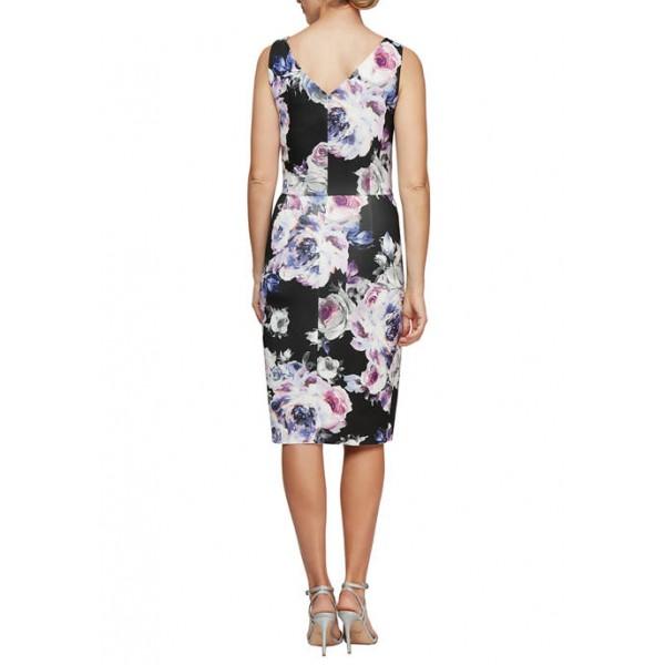 Alex Evenings Sleeveless Printed Short Sheath Dress