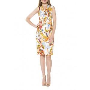 Alexia Admor Women's Cora Ruched Asymmetric Sheath Dress