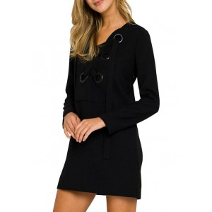 ENGLISH FACTORY Women's Front Lace Up Dress