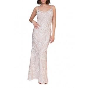 Jump Women's Glitter Cowl Neck Gown