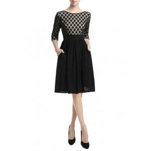 Kimi & Kai Women's Lace Overlay Sheath Dress