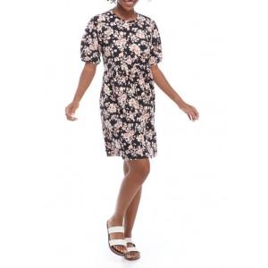 Luxology™ Women's Puff Sleeve Floral Babydoll Dress