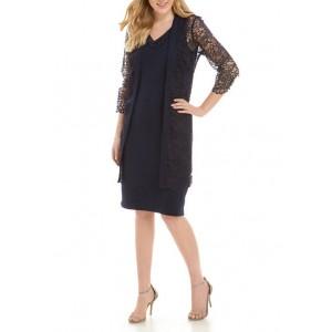 Maya Brooke Women's Lace Jacket Dress Set