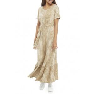 New Directions® Women's Dolman Sleeve Tie Waist Maxi Dress