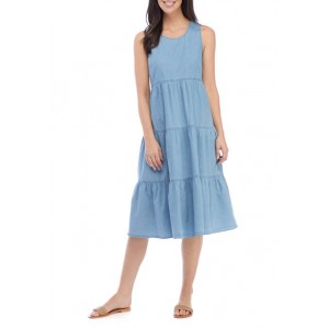 New Directions® Women's Sleeveless Tiered Tie Back Dress