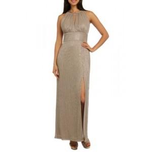 R & M Richards Metallic Knit Gown
