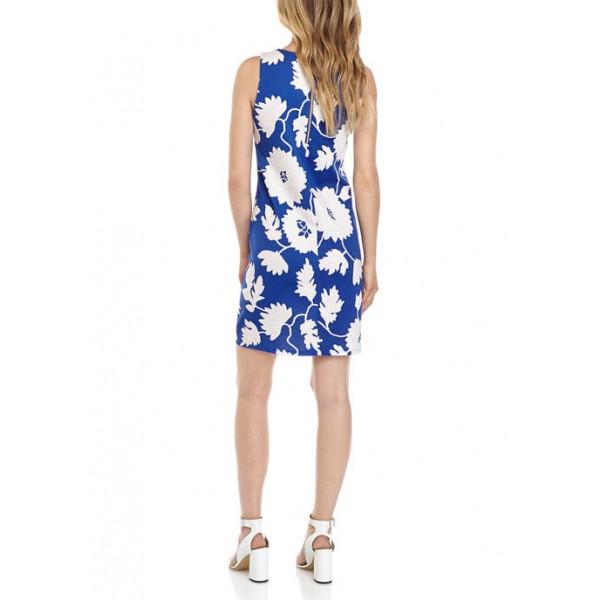 Ronni Nicole Women's Puff Print Floral A-Line Dress