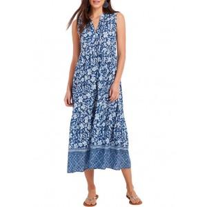 Vineyard Vines Women's Hibiscus Floral Tiered Maxi Dress