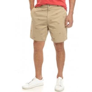 Saddlebred® Printed Flag Shorts