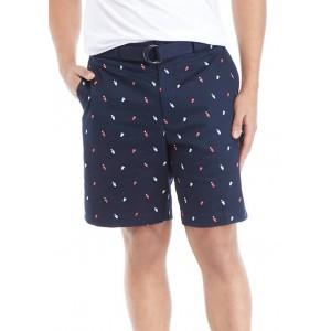 Savane® Men's Beer Pong Printed Twill Shorts