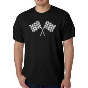 LA Pop Art Word Art Graphic T-Shirt - NASCAR National Series Race Tracks