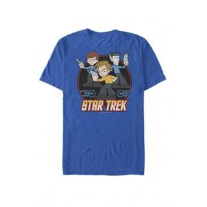 Star Trek The Original Series Kirk Cartoon Crew Short-Sleeve T-Shirt