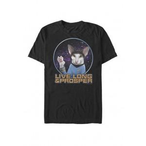 Star Trek The Original Series Spock Cat Prosper Short Sleeve T-Shirt