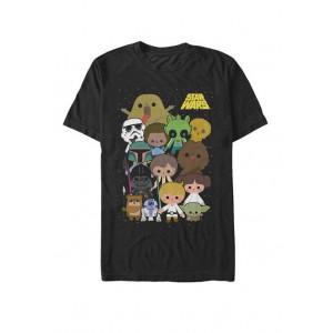Star Wars® Cute Cartoon Character Group Kawaii Short-Sleeve T-Shirt