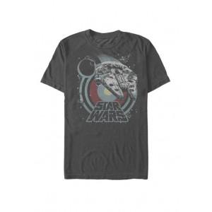 Star Wars® Death Star and Millennium Falcon Logo Short Sleeve Graphic T-Shirt