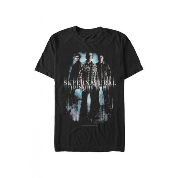 Supernatural Trio Poster Graphic Short Sleeve T-Shirt