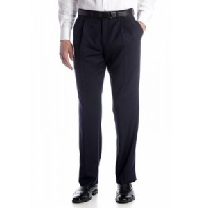 Austin Reed Solid Pleated Pants