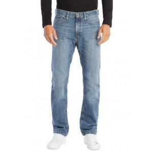 Nautica Straight Fit Cross Hatch Jeans