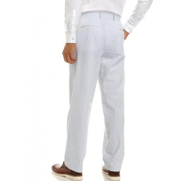 Crown & Ivy™ Blue White Seersucker Suit Separate Pants