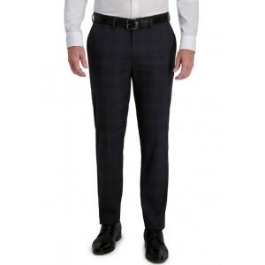 Haggar® Men's Signature Plaid Tailored Fit Flat Front Premium Flex Waistband Suit Separates Pants