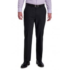 Haggar® Textured Grid 4-Way Stretch Classic Fit Flat Front Dress Pants