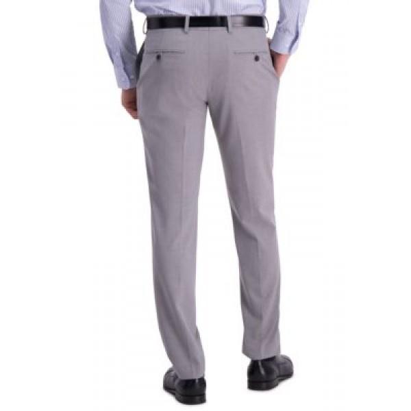 Louis Raphael Men's Solid 4 Way Stretch Skinny Fit Flat Front Dress Pants