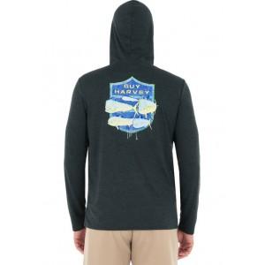 Guy Harvey® Men's Sailfish Logo Long Sleeve Hoodie