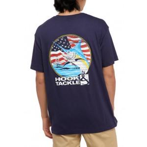 Hook & Tackle Short Sleeve Americana Marlin Graphic T-Shirt