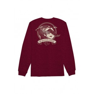 Ocean & Coast® Long Sleeve Cotton Graphic T-Shirt