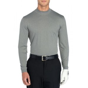 Pro Tour® Long Sleeve Heather Mock neck Pullover