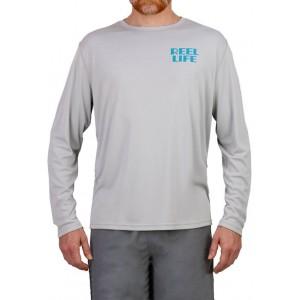 Reel Life Men's Long Sleeve Straight Up Palms Performance T-Shirt