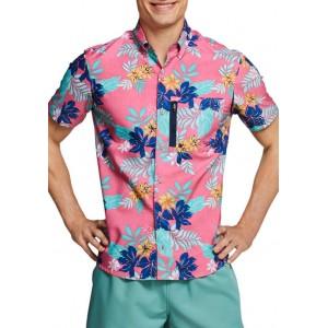 speedo® Short Sleeve Floral Paddle Shirt