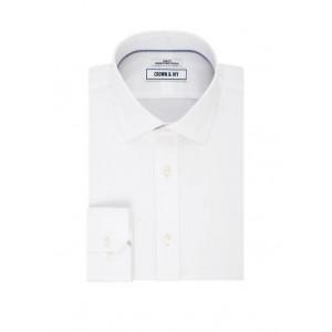 Crown & Ivy™ Slim-Fit Solid Long Sleeve Dress Shirt
