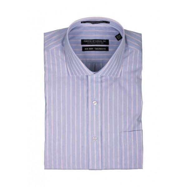 Forsyth of Canada Men's Textured Stripe Dress Shirt