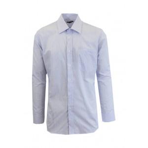 Galaxy Men's Long Sleeve Pinstripe Dress Shirt