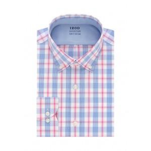 IZOD Cool FX Slim Fit Check Print Dress Shirt