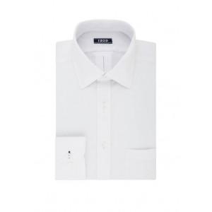 IZOD Regular Fit Long Lasting White All Over Stretch Dress Shirt