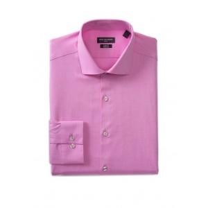Van Heusen Men's Slim Fit Flex Stretch Solid Herringbone Dress Shirt