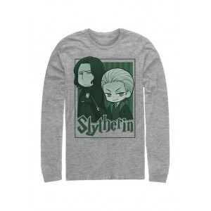 Harry Potter™ Harry Potter Slytherin Chibi Long Sleeve Graphic Crew T-Shirt