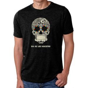 LA Pop Art Premium Blend Word Art T-Shirt - Dia De Los Muertos
