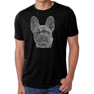 LA Pop Art Premium Blend Word Art T-Shirt - French Bulldog