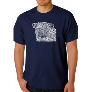 LA Pop Art Word Art Graphic T-Shirt - Pug Face