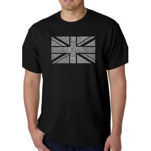 LA Pop Art Word Art Graphic T-Shirt -Union Jack
