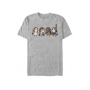 Star Wars® Cute Porgs Dressed As Characters Portrait Short Sleeve Graphic T-Shirt
