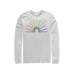 Star Wars® Sabor Rainbow Long Sleeve Crew Graphic T-Shirt
