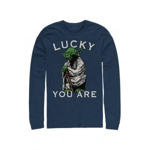 Star Wars® Star Wars Lucky Yoda Graphic Long Sleeve T-Shirt