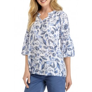 Kim Rogers® Women's 3/4 Sleeve Woven Floral Blouse