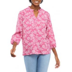 Kim Rogers® Women's Blouson Sleeve Animal Print Top